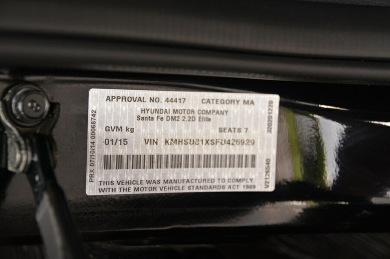 HYUNDAI SANTA FE Elite DM2 Elite Wagon 7st 5dr Spts Auto 6sp 4x4 2.2DT [MY15]