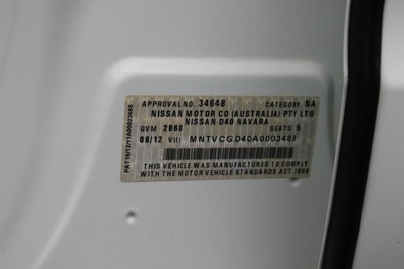 NISSAN NAVARA RX D40 Series 6 RX Utility Dual Cab 4dr Auto 5sp 4x2 2.5DT