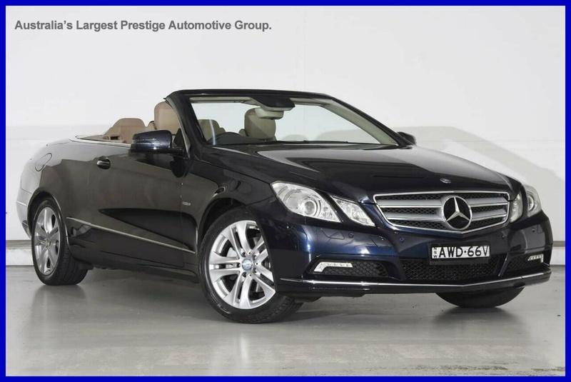 Mercedes Benz E250 Cgi Elegance A207 Cabriolet 2dr Spts Auto 5sp 1 8t