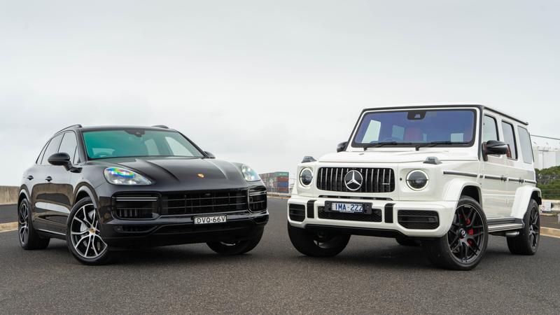 Head To Head Porsche Cayenne Turbo V Mercedes Amg G63 Drive