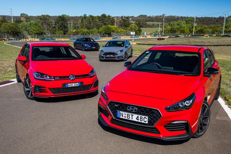 Wrx Vs Gti >> Hyundai I30 N Vs Volkswagen Golf Gti Subaru Impreza Wrx And Ford
