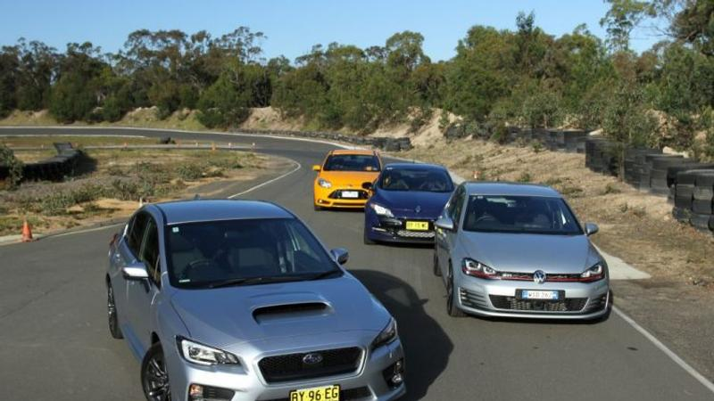 Wrx Vs Gti >> Hot Hatch Comparison Review Subaru Wrx V Volkswagen Golf Gti V Ford