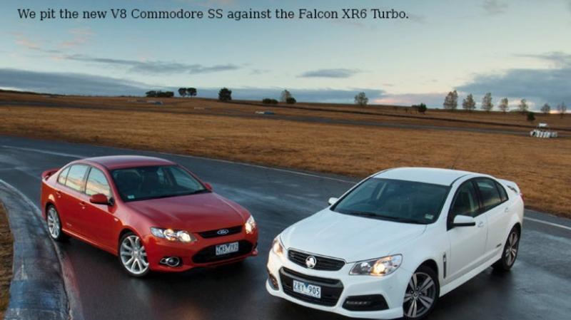 Comparison review: VF Commodore SS v FG Falcon XR6 Turbo