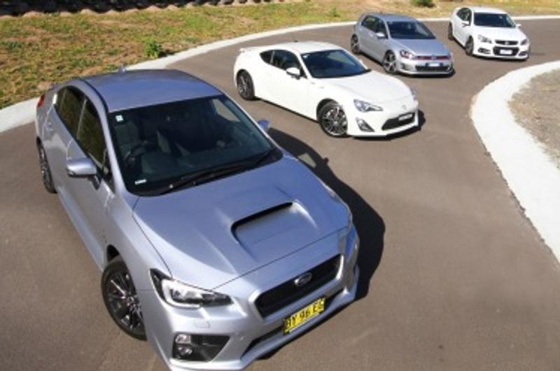 $40k fun machines: Subaru WRX v Holden Commodore SS v Toyota 86 v