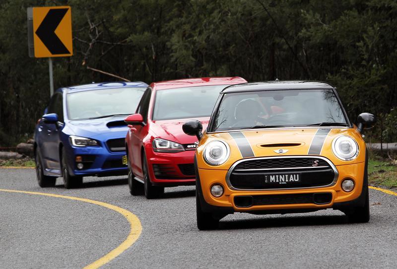 Sports Comparison Review: Focus ST, Cooper S, Golf GTI