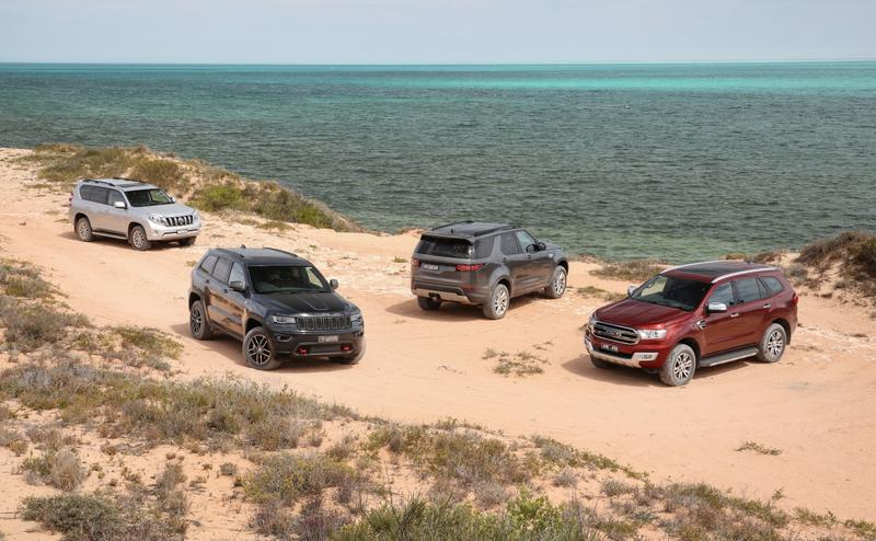 Luxury 4x4 Comparison: Land Rover Discovery v Ford Everest v Toyota