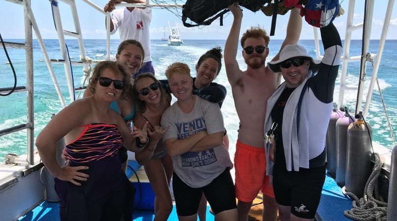 Guided Two-Tank Scuba Dive Boat Trip in Cozumel