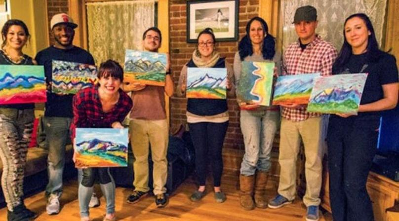 Puff, Pass & Paint Class in San Diego