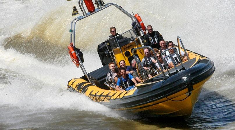 RIB Speedboat to Canary Wharf