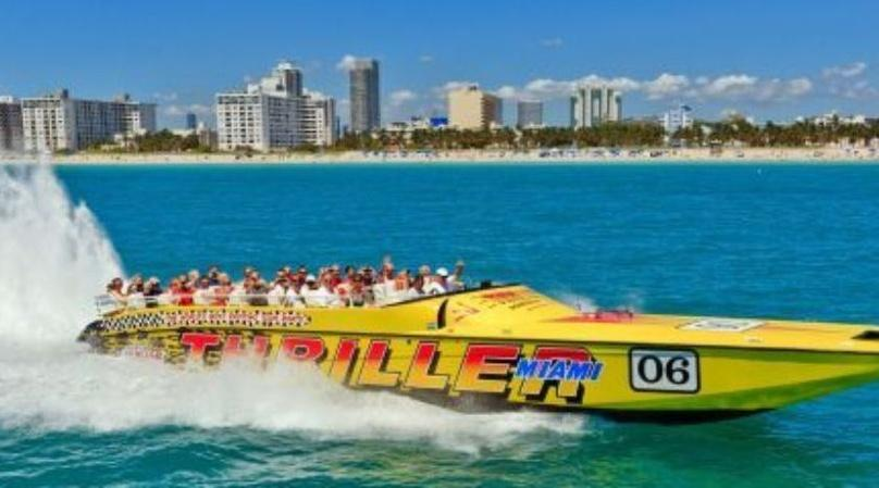 Thriller Speedboat & Miami To The Max! City Tour Combo