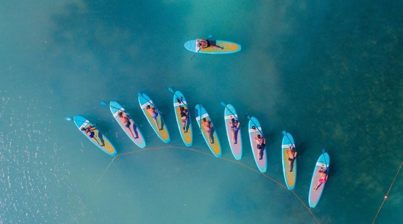 Ocean Paddle Board Yoga