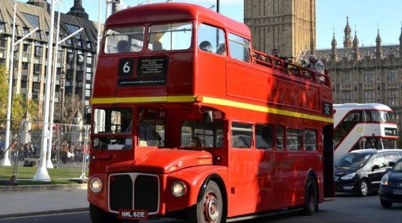 Vintage Open-Top Bus Tour in London