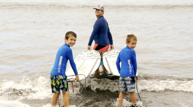 Private Maui Surf Lesson for Three