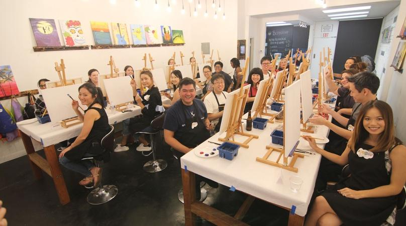 Pizza and Paint Night in Fullerton