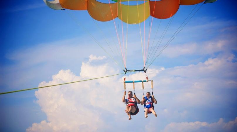 Parasailing Over Grace Bay Beach in Providenciales