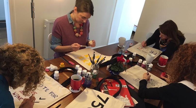Bag Painting Workshop & Brunch in Saint Germain