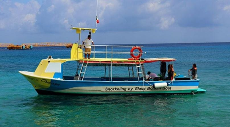 VIP Glass Bottom Boat Snorkeling in Cozumel