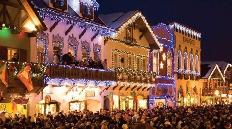 Leavenworth Tree Lighting Festival from Bellevue