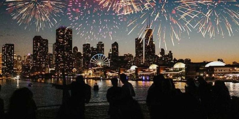 Lake Michigan Navy Pier Fireworks Cruises