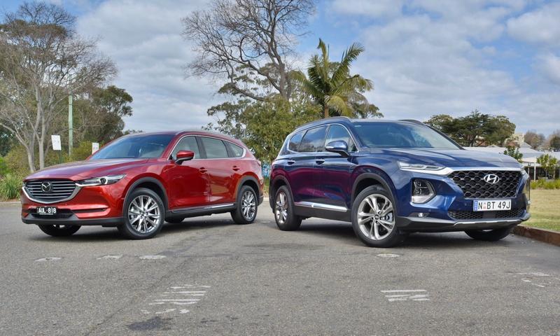 Mazda Santa Fe >> Hyundai Santa Fe Highlander V Mazda Cx 8 Asaki Comparison Test