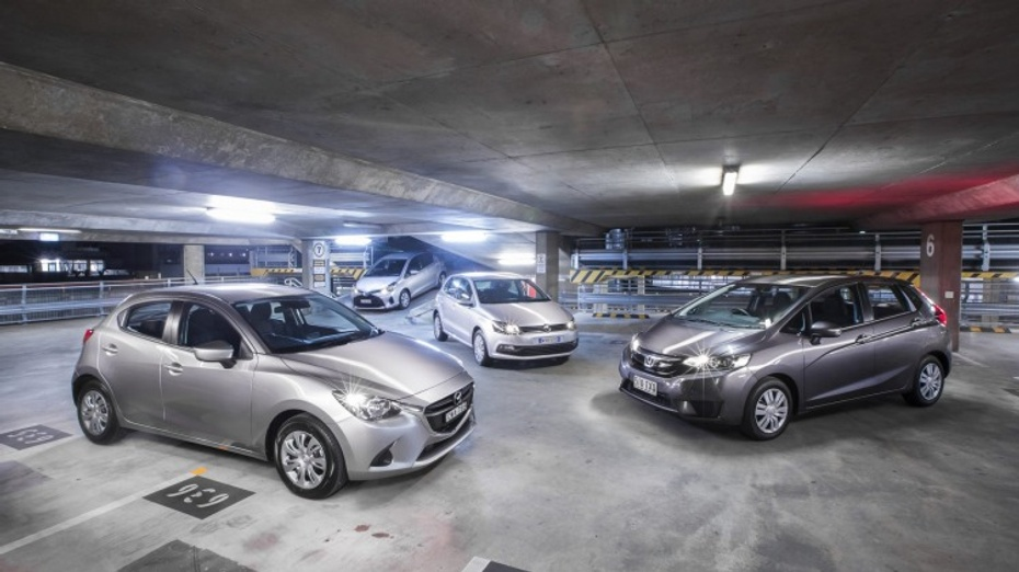 Light car comparison: Mazda2 v Volkswagen Polo v Honda Jazz v Toyota