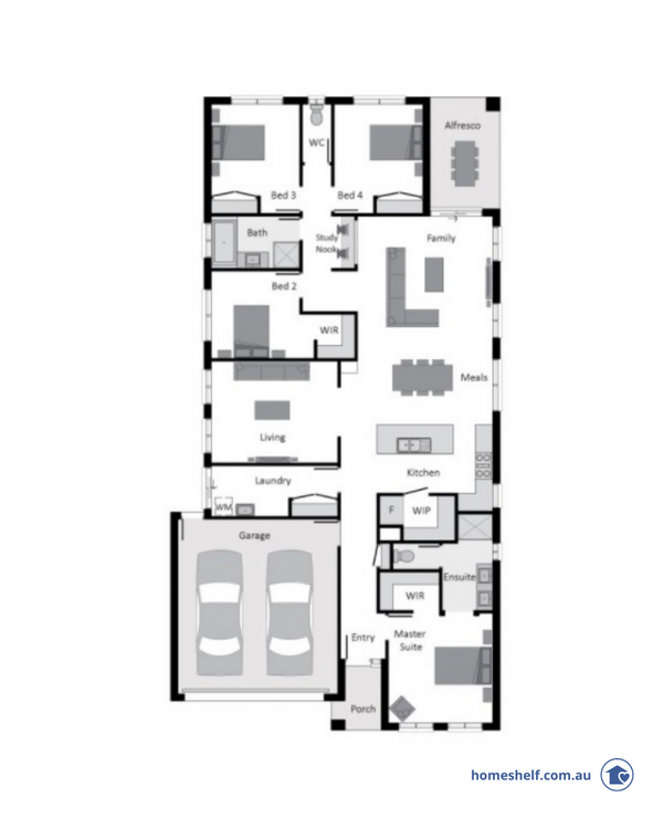 12.5m lot width new build home design, 24sq