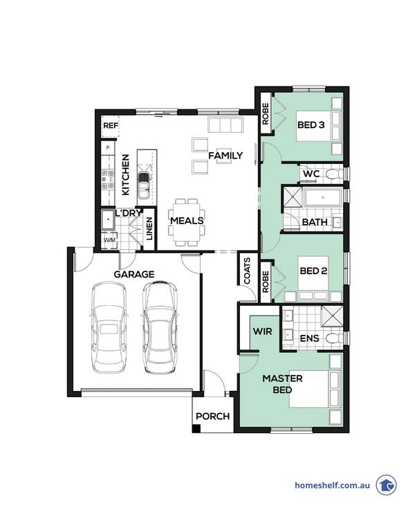 14m frontage Accolade home design Melbourne builder