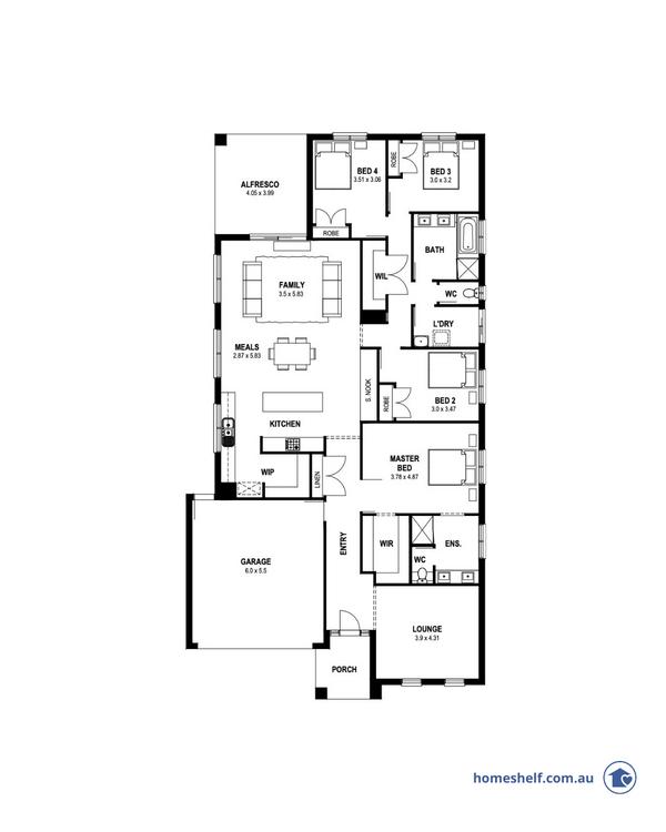 14m frontage Patterson home design Melbourne builder
