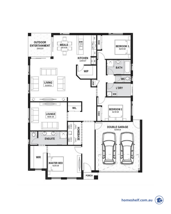 Three bedroom plan with wide frontage by True Value Homes