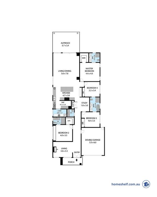 14m frontage Milan home design Melbourne builder