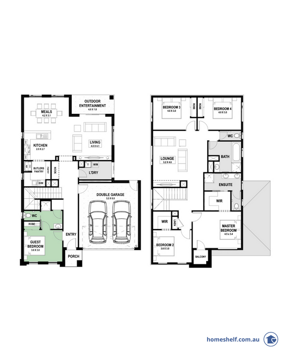 True Value Homes double storey plan home design to build