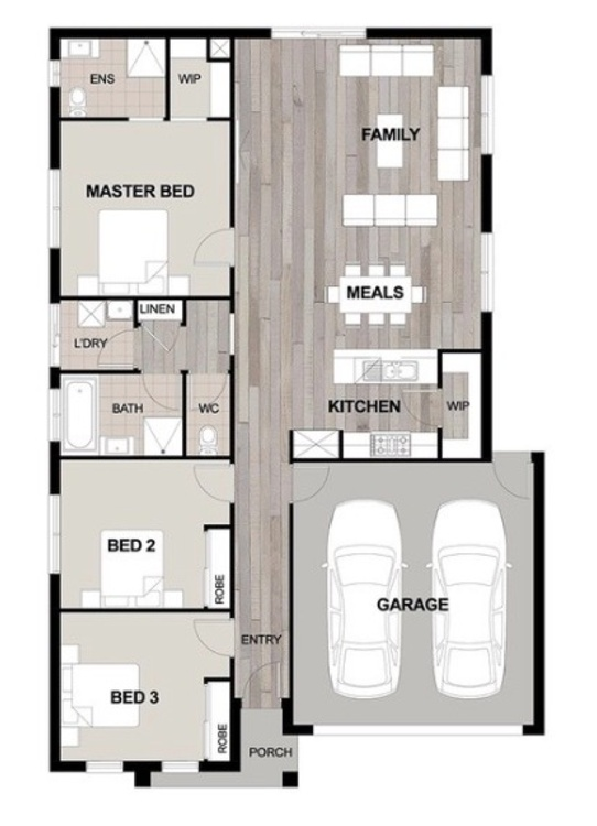 single storey 3 bed 19sq