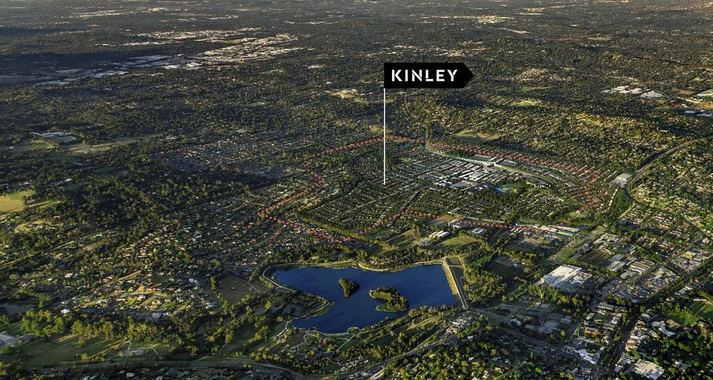 Aerial image of Kinley estate Lilydale