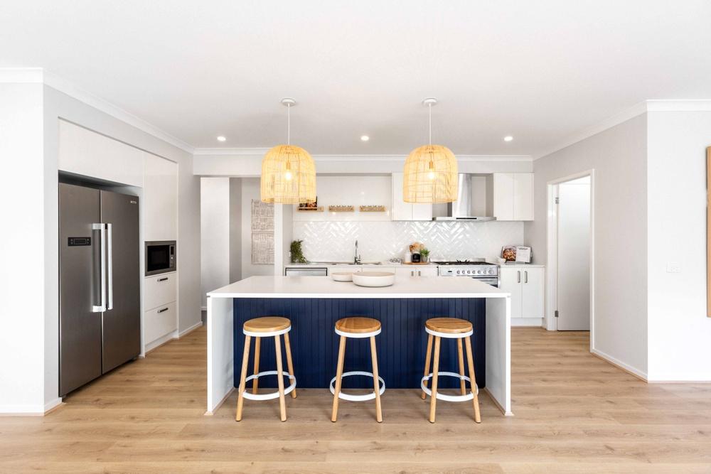 Island kitchen layout Bentley Homes