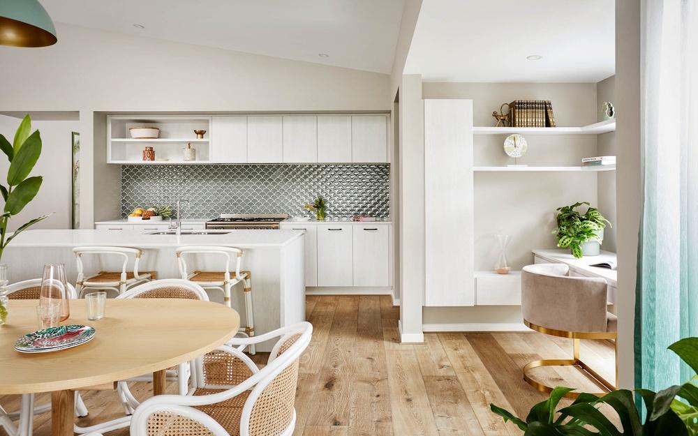 study nook near kitchen in henley new home design