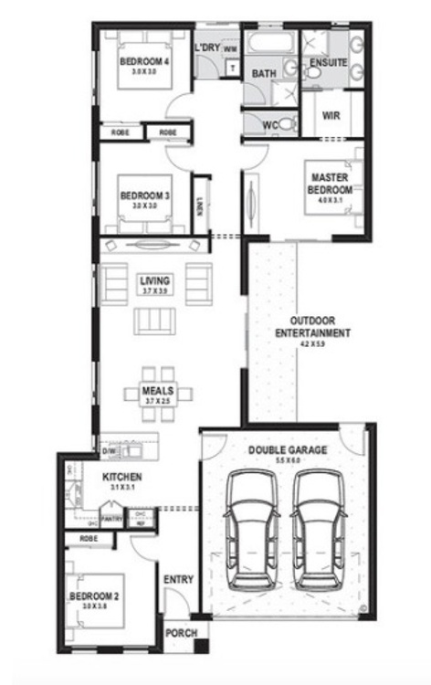 single storey 4 bed 19sq