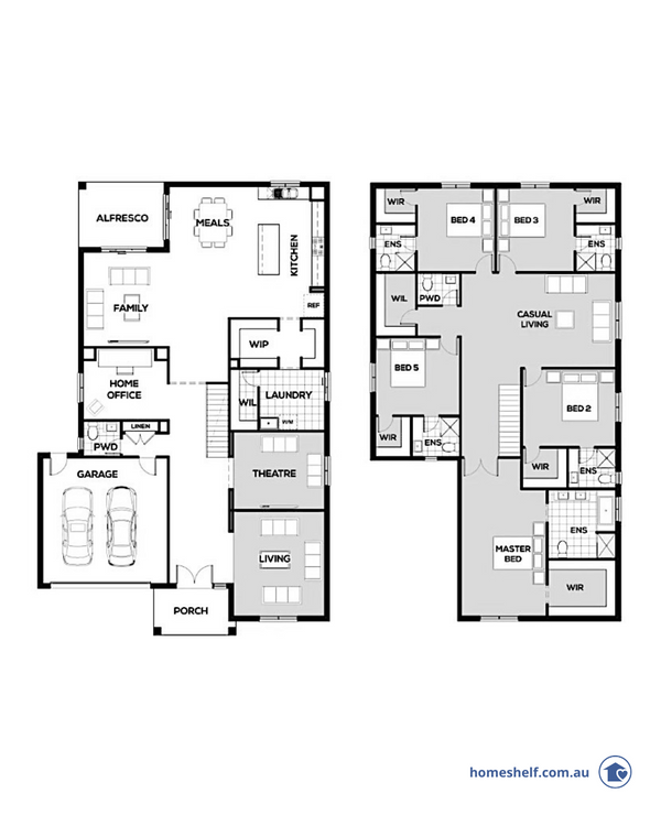 Saville double storey design by Omnia Homes