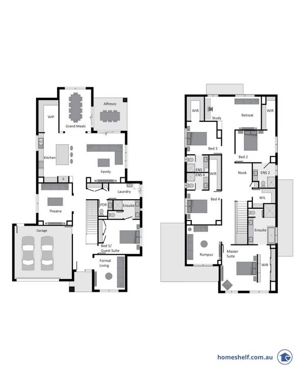 Bentley Homes double storey plan home design to build