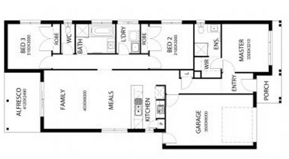 3 bed new home plan