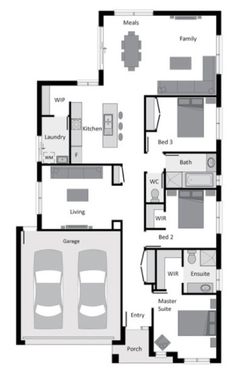 single storey home 4 beds 19sq