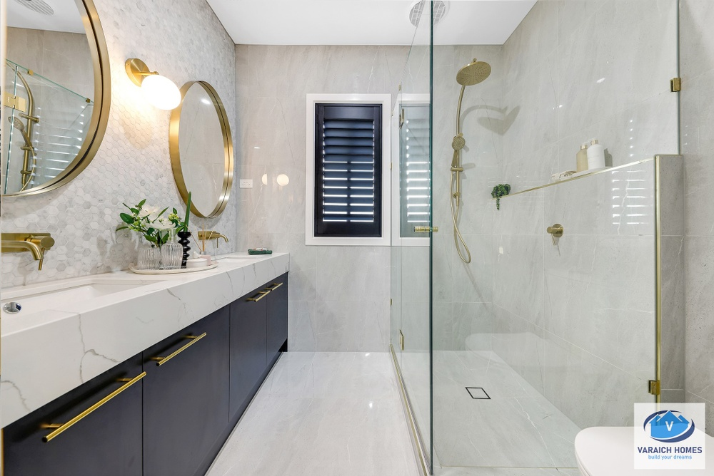 bathroom with shower only in varaich display home