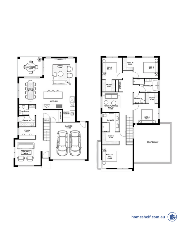 Ali Homes double storey plan home design to build
