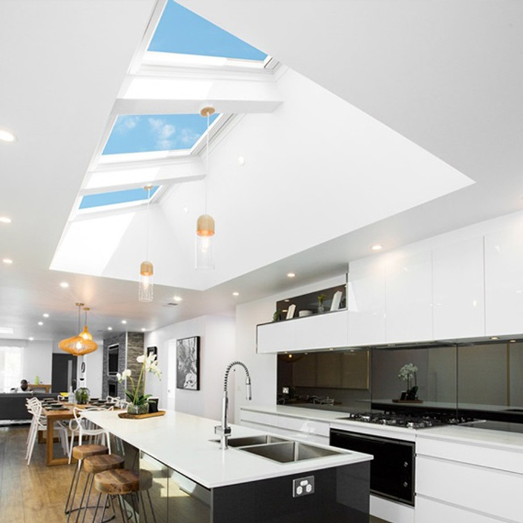 add skylights for natural light into new home