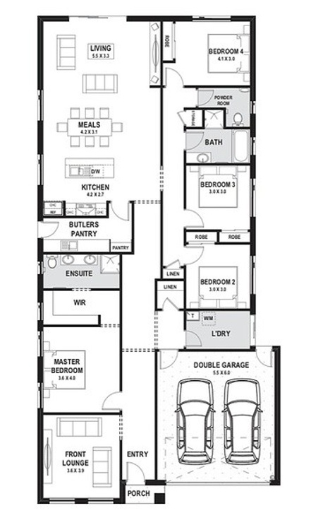 Single storey house 4 bed 25sq