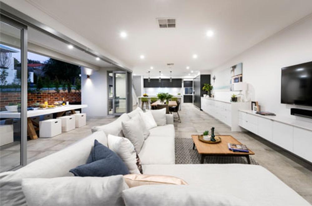 narrow block home design interior