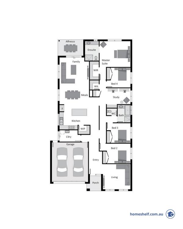 14m frontage Baltimore home design Melbourne builder