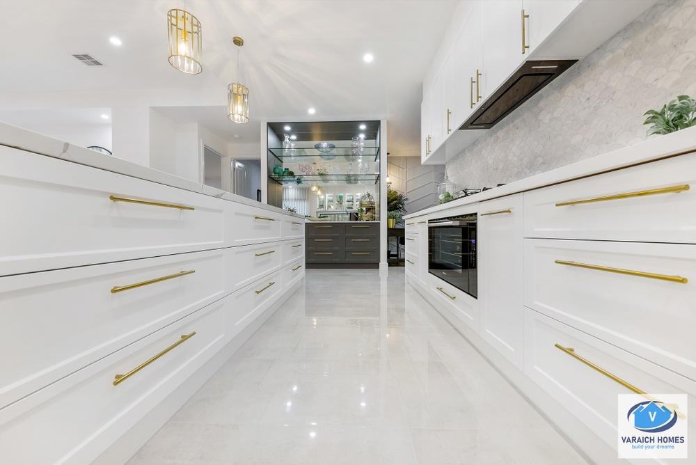 kitchen storage in display home donnybrook