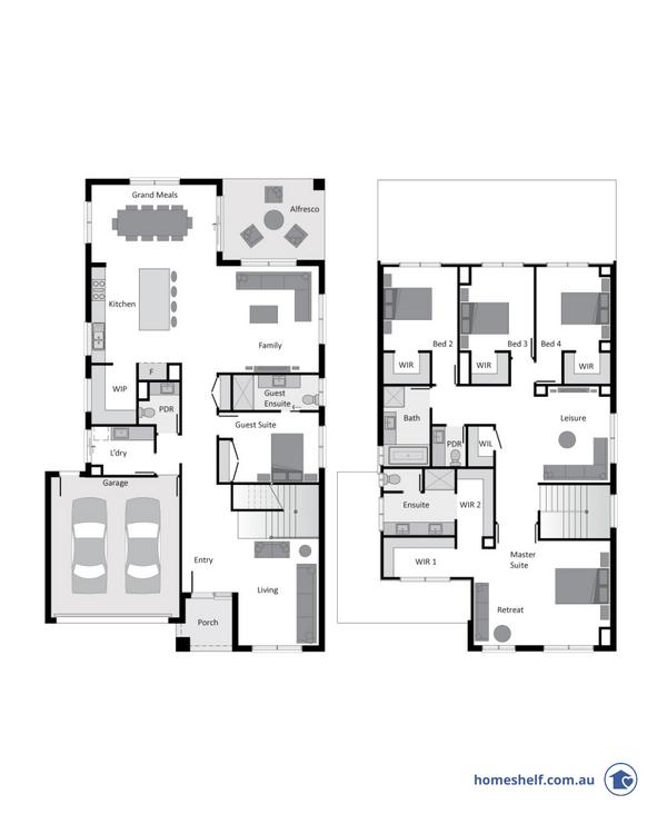Caledonia double storey design by Bentley Homes