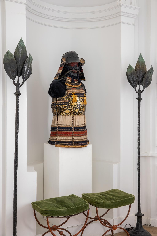 Xavier Eeckhout dining room samurai armor Living with Art