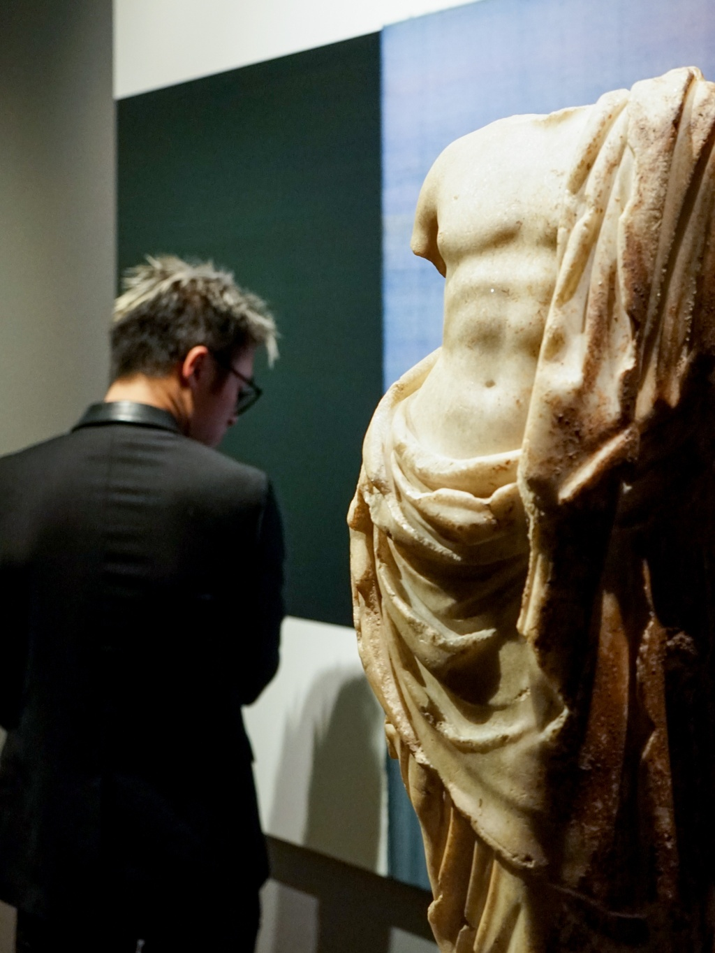 marble sculpture in art gallery